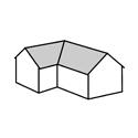 sedlová střecha do L
