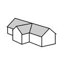 sedlová střecha do T